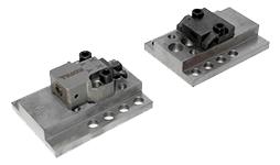 Horizontl-Spanntechnik Horizontalspanner mit Niederzug und Referenzpunkt.